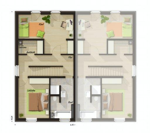 Town & Country - DH Mainz 128 mit Dachterrasse Floorplan 1