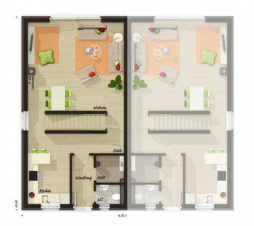 Town & Country - DH Mainz 128 mit Dachterrasse Floorplan 2