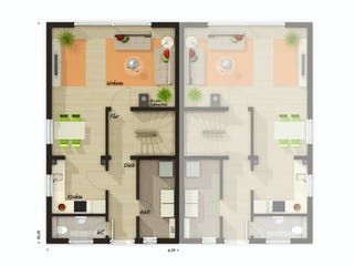 DH Mainz 128 Modern von Town & Country Haus Deutschland Grundriss 1