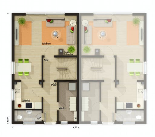 Town & Country - DH Mainz 128 Modern Floorplan 1