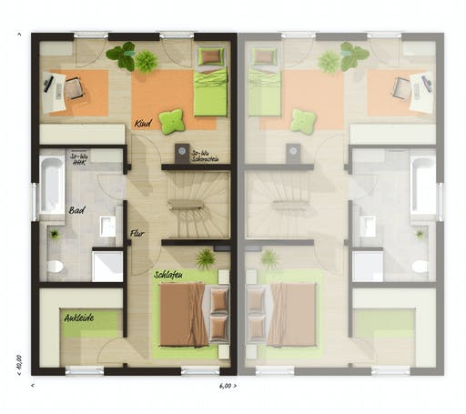 Town & Country - DH Mainz 128 Modern Floorplan 2