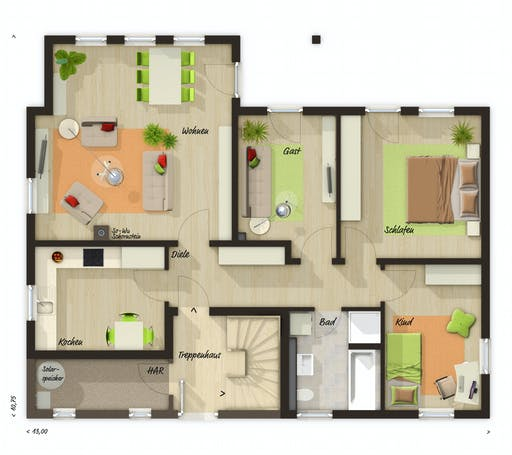 Town & Country - Domizil 192 Floorplan 1