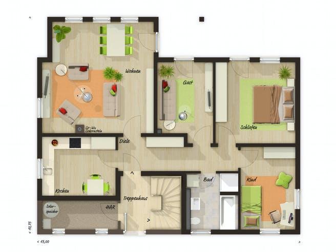 Domizil 192 von Town & Country Haus Deutschland Grundriss 1