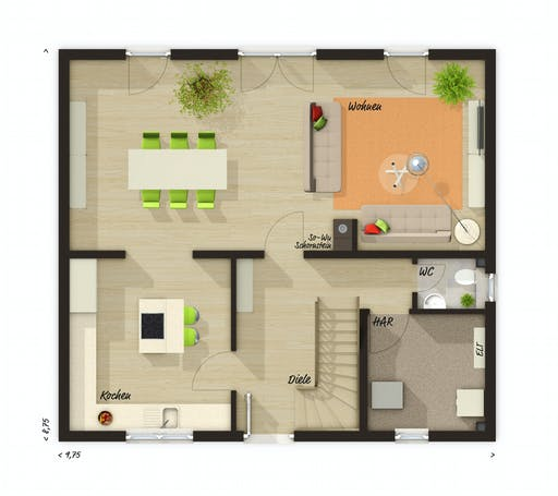 Town & Country - Edition Clever 138+ Floorplan 1