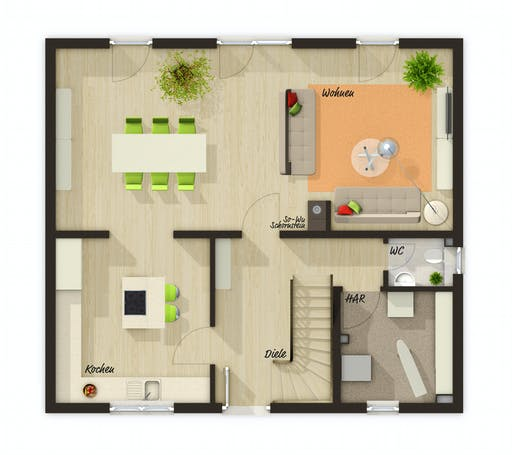 Town & Country - Flair 125 Floorplan 1