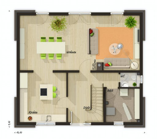 Town & Country  - Flair 130 Floorplan 1