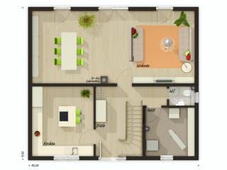 Flair 134 von Town & Country Haus Deutschland Grundriss 1