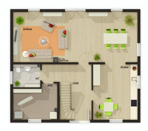 Town & Country  - Mitwachshaus Flair 148 Floorplan 1
