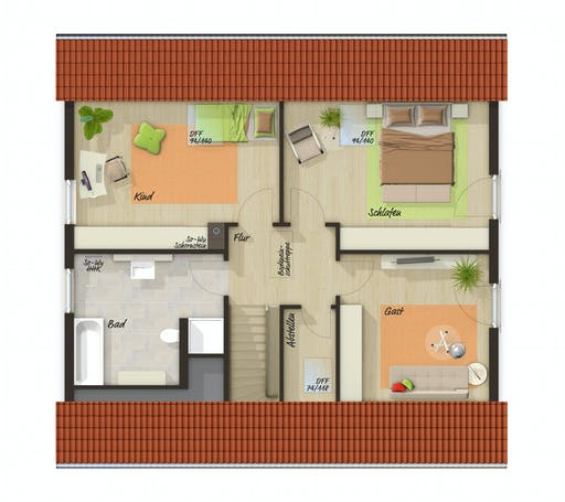 Town & Country  - Mitwachshaus Flair 148 Floorplan 2
