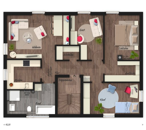 Town & Country - Stadthaus Flair 180 DUO Floorplan 1