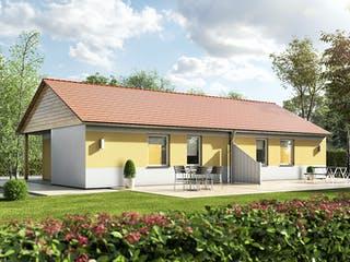 Glückswelthaus Duo Bungalow 45 von Town & Country Haus Außenansicht 1