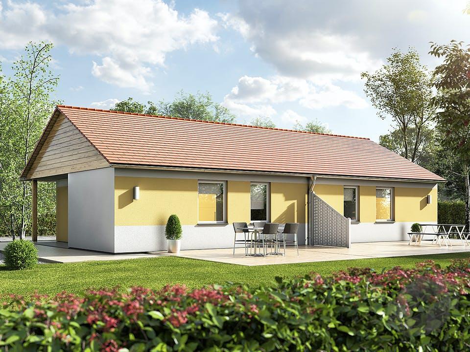 Glückswelthaus Duo Bungalow 45 von Town & Country Haus Außenansicht