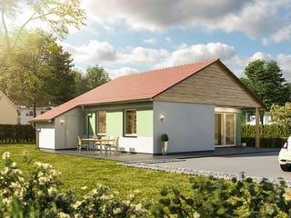 Glückswelthaus Bungalow 61 von Town & Country Haus Deutschland Außenansicht 1