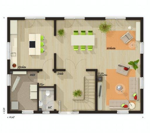 Town & Country - Landhaus 142 Floorplan 1
