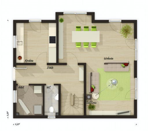 Town & Country - Lichthaus 121 Floorplan 1