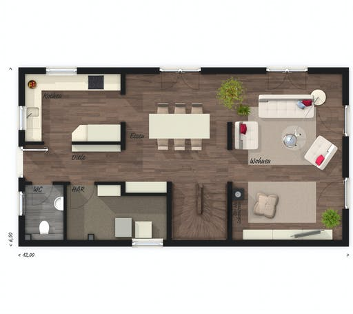 Town & Country - Stadthaus Aura 125 Floorplan 1