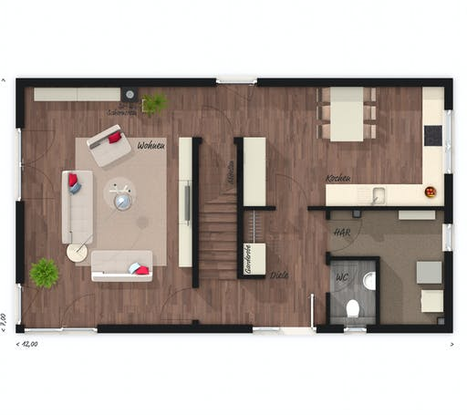 Town & Country - Stadthaus Aura 136 Floorplan 1