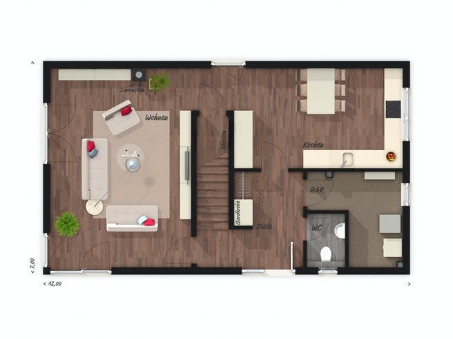 Stadthaus Aura 136 von Town & Country Haus Grundriss 1