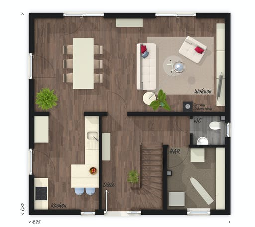 Town & Country - Stadthaus Flair 124 Floorplan 1