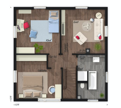 Town & Country - Stadthaus Flair 124 Floorplan 2