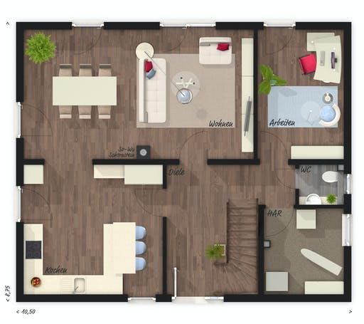 Town & Country - Stadthaus Flair 152 RE Floorplan 1