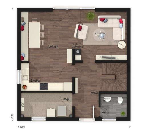 Town & Country  - Stadthaus 100 Floorplan 1