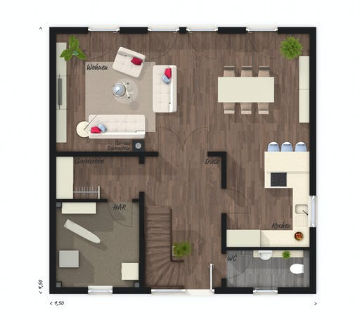 Town & Country - Stadtvilla 145 Floorplan 1