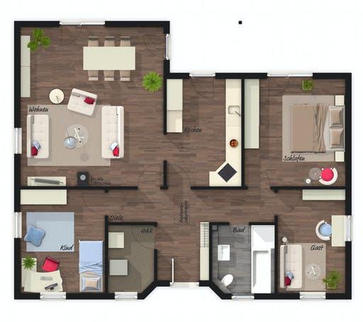 Town & Country - Winkelbungalow 108 Floorplan 1