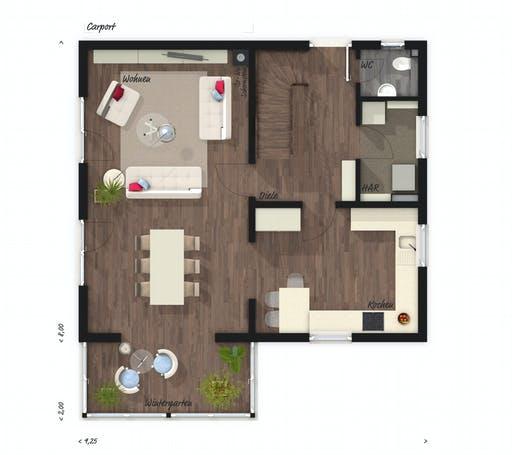 Town & Country - Wintergartenhaus 118 Floorplan 1