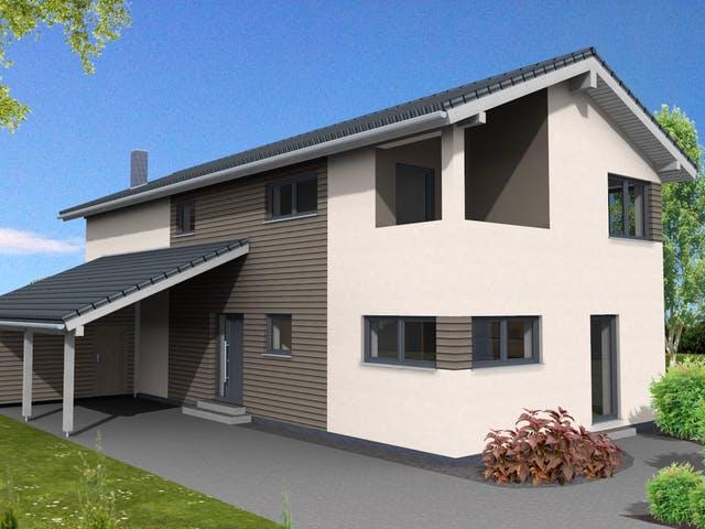 Haus Trendline 183 von Suckfüll - Unser Energiesparhaus Außenansicht