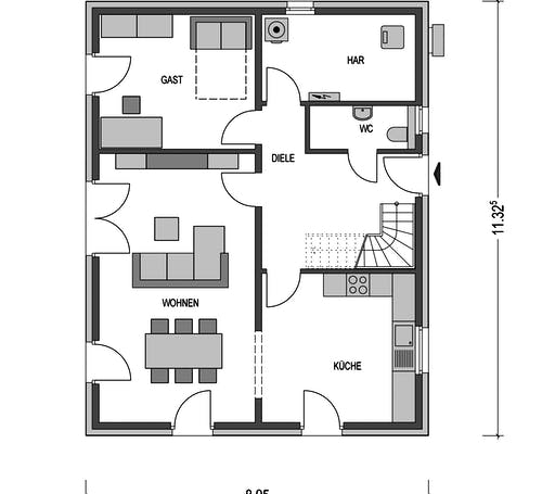 Urban 1000.2 Floorplan 1