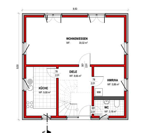 BK Bau-Konzept V100 Floorplan 1