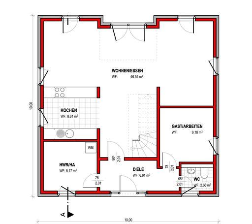 BK Bau-Konzept V220 Floorplan 1