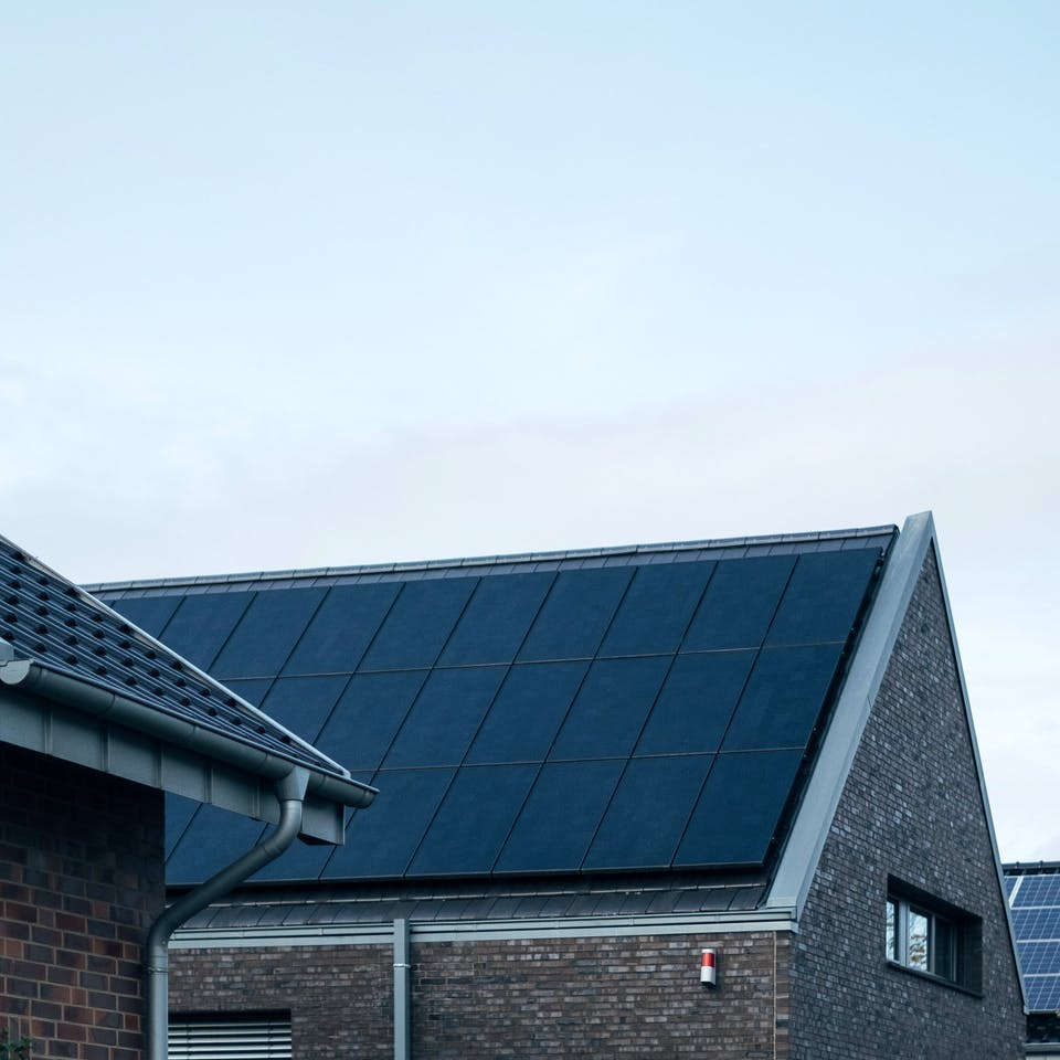 Passivhaus mit Photovoltaik