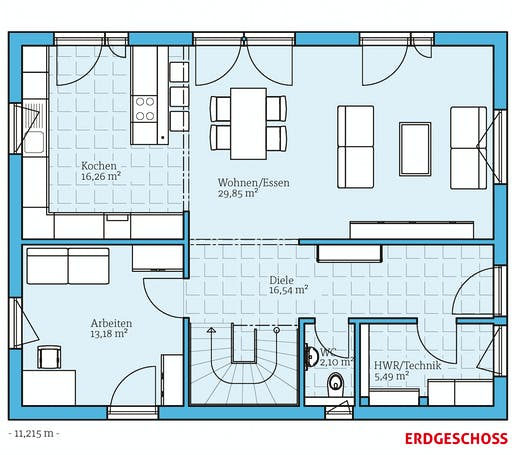 Hanse - Variant 25-165 Floorplan 1