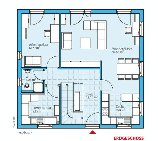 Hanse - Variant 45-145 Floorplan 1