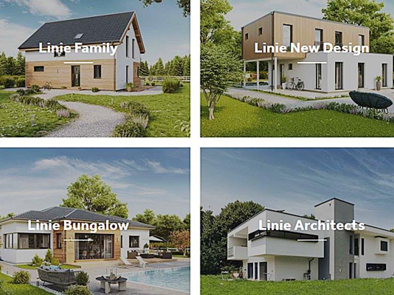 Collage mit Hauslinien von VARIO-HAUS