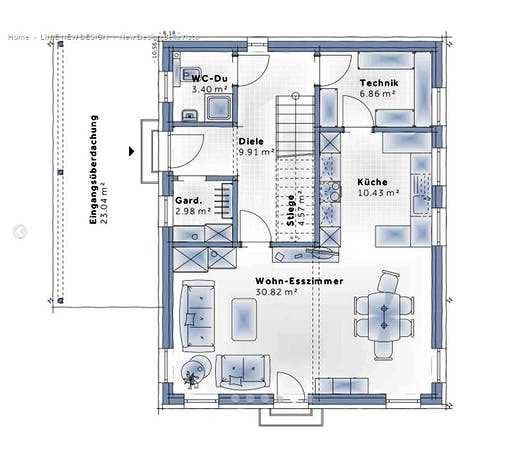 Variohaus - New Design BellaVista Floorplan 1