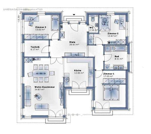Variohaus - Bungalow 129 Floorplan 1