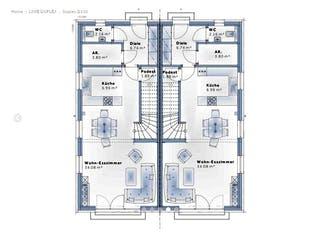 Duplex D110 von VARIO-HAUS Grundriss 1