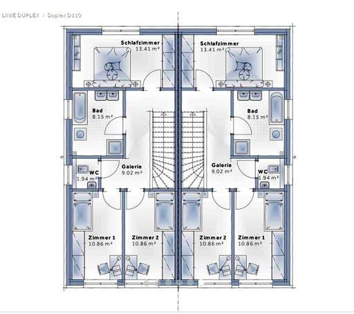 Variohaus - Duplex D110 Floorplan 2