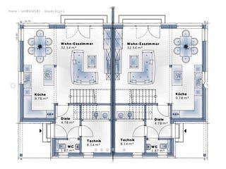 Duplex D113 Small von VARIO-HAUS Grundriss 1