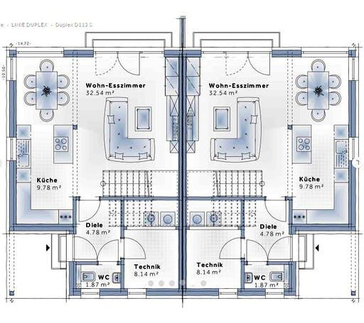 Variohaus - Duplex D113 Small Floorplan 1