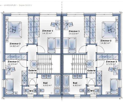 Variohaus - Duplex D113 Small Floorplan 2