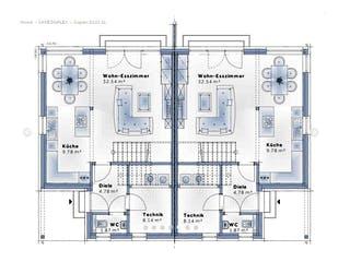 Duplex D113 XLARGE von VARIO-HAUS Grundriss 1
