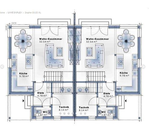 Variohaus Duplex D113 XLARGE Floorplan 1