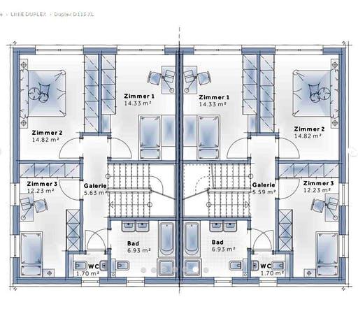 Variohaus Duplex D113 XLARGE Floorplan 2