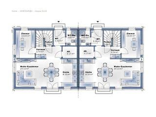 Duplex D115 von VARIO-HAUS Grundriss 1