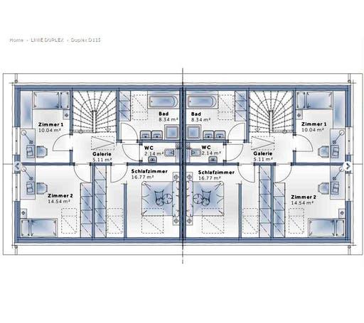 Variohaus - Duplex D115 Floorplan 2