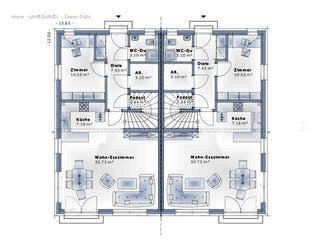 Duplex D124 von VARIO-HAUS Grundriss 1